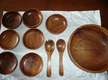 10-pc Wooden Bowl Set in Fairfax, Virginia