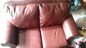 Leather loveseat (just reduced) in Fort Lewis, Washington