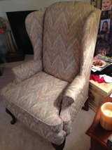 Flame Stitched Wing Back Chair in Perry, Georgia