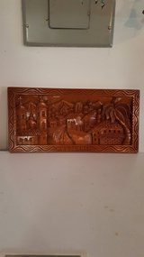 Carved wood picture in Fort Rucker, Alabama