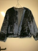 Dark Blue Plush Jacket Size 7/8 - Newish Condition in Ramstein, Germany