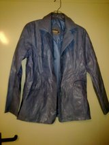 New - Blue Rave Leatherette Jacket - Size M in Ramstein, Germany