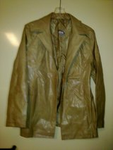 New - Tan Rave Leatherette Jacket - Size M in Ramstein, Germany