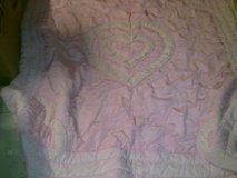 Pink Heart Bed Spread / Cover / Quilt 72w x 77L - Great Condition in Ramstein, Germany