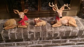 Plaster Cast Deer Family in Glendale Heights, Illinois