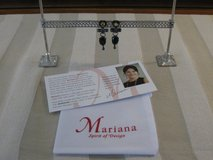 MARIANA 'Courage' Jet and Dorado Crystal Earrings in Black Gold in Joliet, Illinois