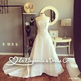 White Satin and Lace New Wedding Gown in Aurora, Illinois