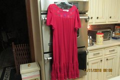 Women's Embroidered Lounge Dress - Size Medium - Gently Used in Houston, Texas