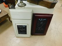 Custom made wooden framed chalkboards in Naperville, Illinois