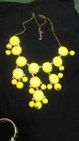 SWEATER LENGTH YELLOW COCKTAIL BIB NECKLACE in DeRidder, Louisiana
