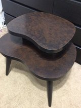 Two tier table dark brown in Chicago, Illinois
