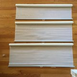 Roller Blinds (3) Light Filtering/Privacy Shades in Aurora, Illinois
