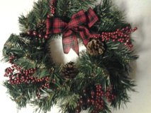 "15"" Red Plaid Bow Christmas Wreath (price each) in Eglin AFB, Florida"
