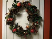 "21"" Red Apples Christmas Wreath (price each) in Eglin AFB, Florida"