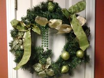 "21"" Green Balls Christmas Wreath in Eglin AFB, Florida"