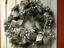 "21"" Silver Christmas Wreath in Eglin AFB, Florida"