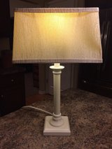 Table Lamp-White with Shade-EUC in Chicago, Illinois