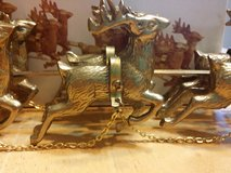 solid brass sleigh and reindeer in Naperville, Illinois