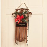 Personalized Sled Door Hanger w/ornament - NIB! in Bartlett, Illinois