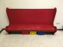 Antique child's bench in Bolingbrook, Illinois