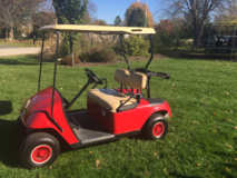 Red EZGO Golf Cart in Bolingbrook, Illinois