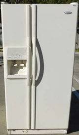22 CU. FT. WHIRLPOOL GOLD SIDE-BY-SIDE REFRIGERATOR WITH WARRANTY in Oceanside, California
