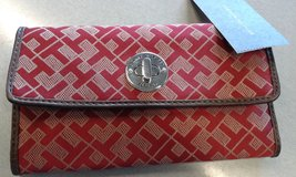 NEW LOW PRICE!-NEW Women's Red Tommy Hilfiger Wallet W/ Signature TH Logo/Letter Design in Kissimmee, Florida