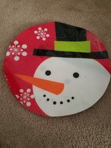 Lot of 5 plastic snowman Christmas placemats in Naperville, Illinois