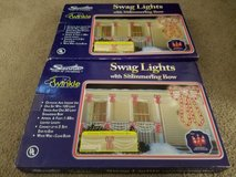 2 boxes of Sienna swag lights with shimmering bows Christmas in Naperville, Illinois