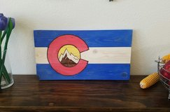 Colorado Wood Flag in Fort Carson, Colorado