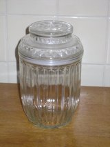 "7-1/2""h glass canister in Glendale Heights, Illinois"
