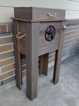 Rustic wood cooler/outdoor ice chest in Kingwood, Texas