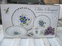 LYNNS BLUE BOUQUET FINE CHINA SERVICE FOR 4 in Hinesville, Georgia