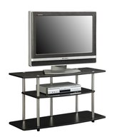 Convenience Concepts Designs2Go 3-Tier Wide TV Stand, Black in Bolingbrook, Illinois
