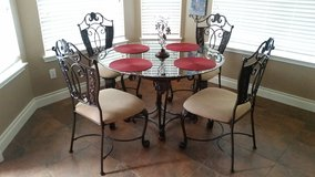 Elegant Iron and Glass Table with 4 chairs in The Woodlands, Texas