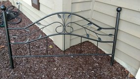 Queen Black Wrought Iron bedframe in Naperville, Illinois