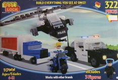 Best Lock Town Police 322 Pieces Building Block Toy in Tinley Park, Illinois
