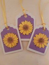 10 Sunflower Gift Tags Handmade in Ramstein, Germany