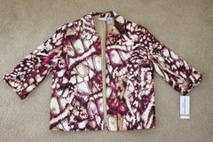 New Alfred Dunner Abstract Print Open Front Jacket, size 12 petite in Schaumburg, Illinois