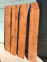 4 stained wood shelf pieces in Alamogordo, New Mexico