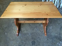 nice sturdy solid wood dining table in original Bavarian style in Ramstein, Germany