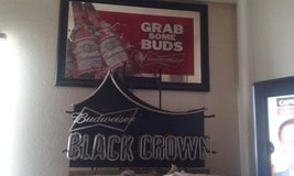 Budweiser mirror and/or Budweiser Black Crown light in Yucca Valley, California