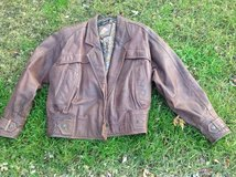Ladies Leather Bomber Jacket Medium in Chicago, Illinois