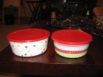 Set of 2 Reusable Holiday Bowls with Lids in Naperville, Illinois