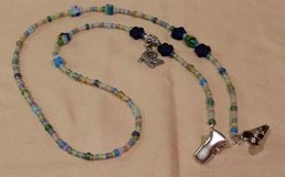 Eye Glass Holder, Pastel Matte Theme Glass Beads and Alligator Charm, with Grip Clips in 29 Palms, California