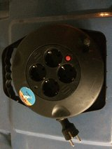 Extension cord Used REV Cable Reel with 4 Sockets Male 10 m Black in Ramstein, Germany