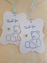 5 Large Thank You Gift Tags Handmade in Ramstein, Germany