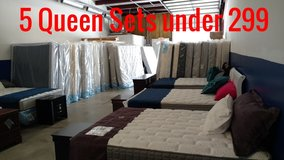 Why pay retail on your new mattress? 5 new queens less than 299.00 in Camp Lejeune, North Carolina