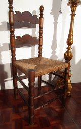 Antique Bavarian Style Chair with Wickerseat in Ramstein, Germany
