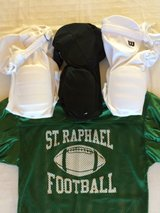 Youth Football Pants (Black, White) & Practice Jersey in Aurora, Illinois